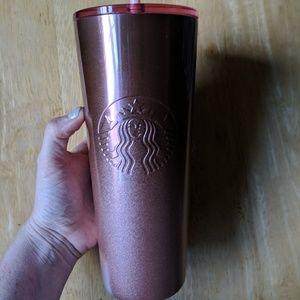 Starbucks Holiday pink rose gold tumbler